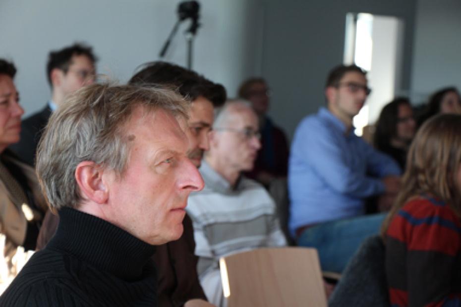 Martin Beck (vorn), Vorsitzender des Humanistischen Verbandes (HVD) Berlin-Brandenburg