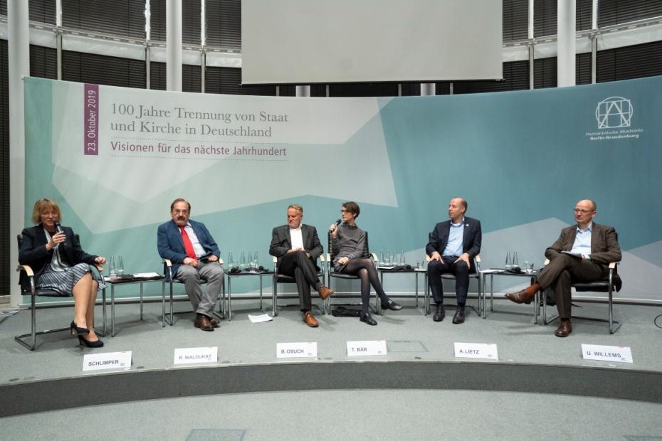 Gabriele Schlimper, Reiner Waldukat, Bruno Osuch, Tina Bär, Arne Lietz, Ulrich Willems (v.l.)