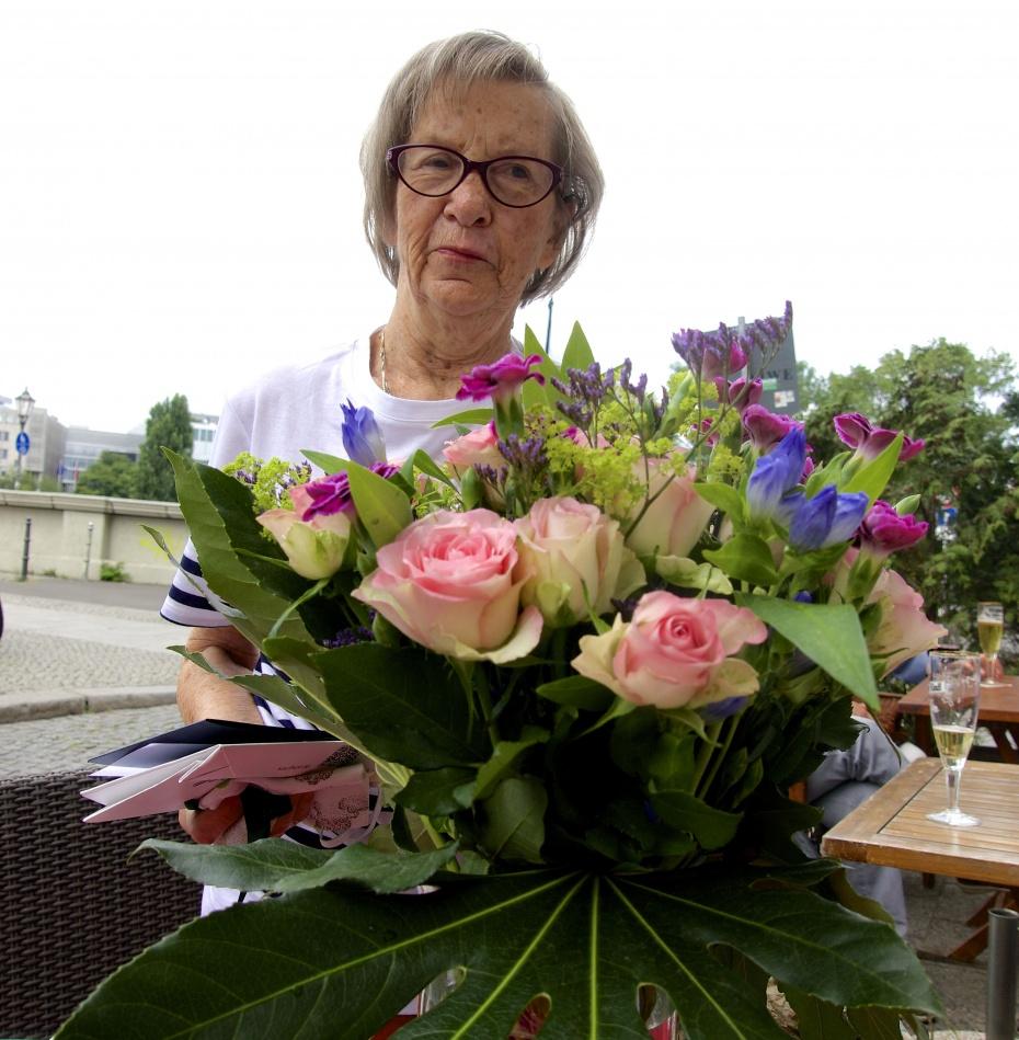 Jutta Witt an ihrem 80. Geburtstag