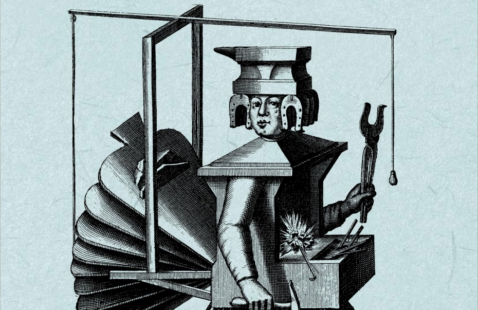 """Bearbeitete Illustration von Nicolas de Larmessin; Cover-Ausschnitt der aktuellen """"diesseits"""""""