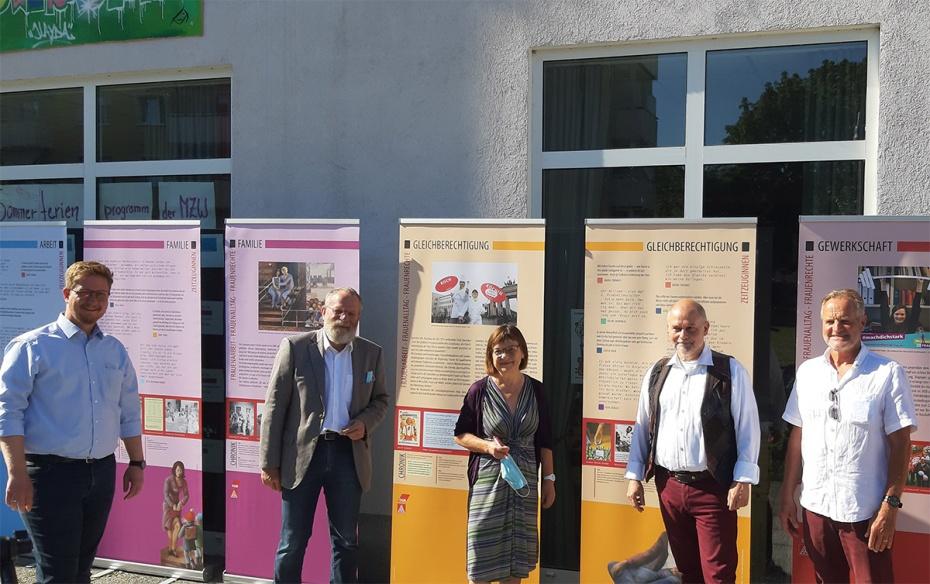 v. l. n. r.: Sebastian Rüter, Wolfgang Blasig, Ursula Nonnenmacher, Thomas Schmidt und Bruno Osuch