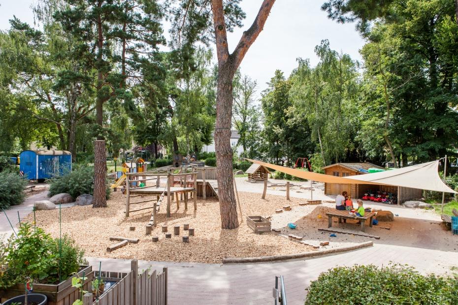 Garten in unserer Humanistischen Kindertagesstätte in Berlin-Bohnsdorf