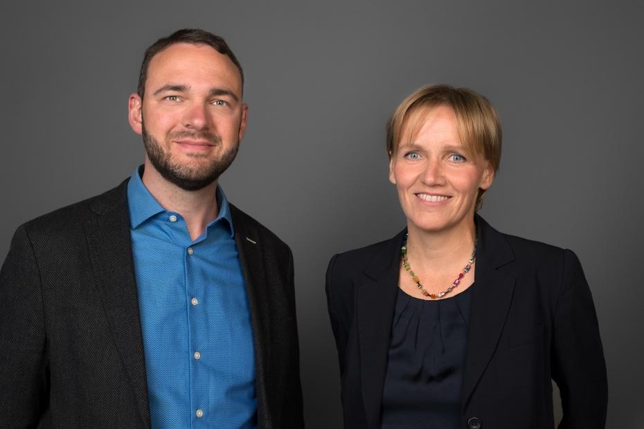 David Driese (Vorstand) & Katrin Raczynski (Vorstandsvorsitzende)