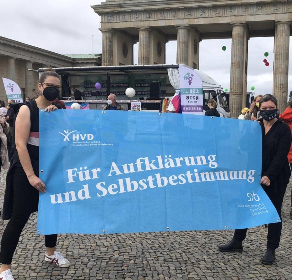 Aktionstag für sexuelle Selbstbestimmung am 18.09.2021 in Berlin