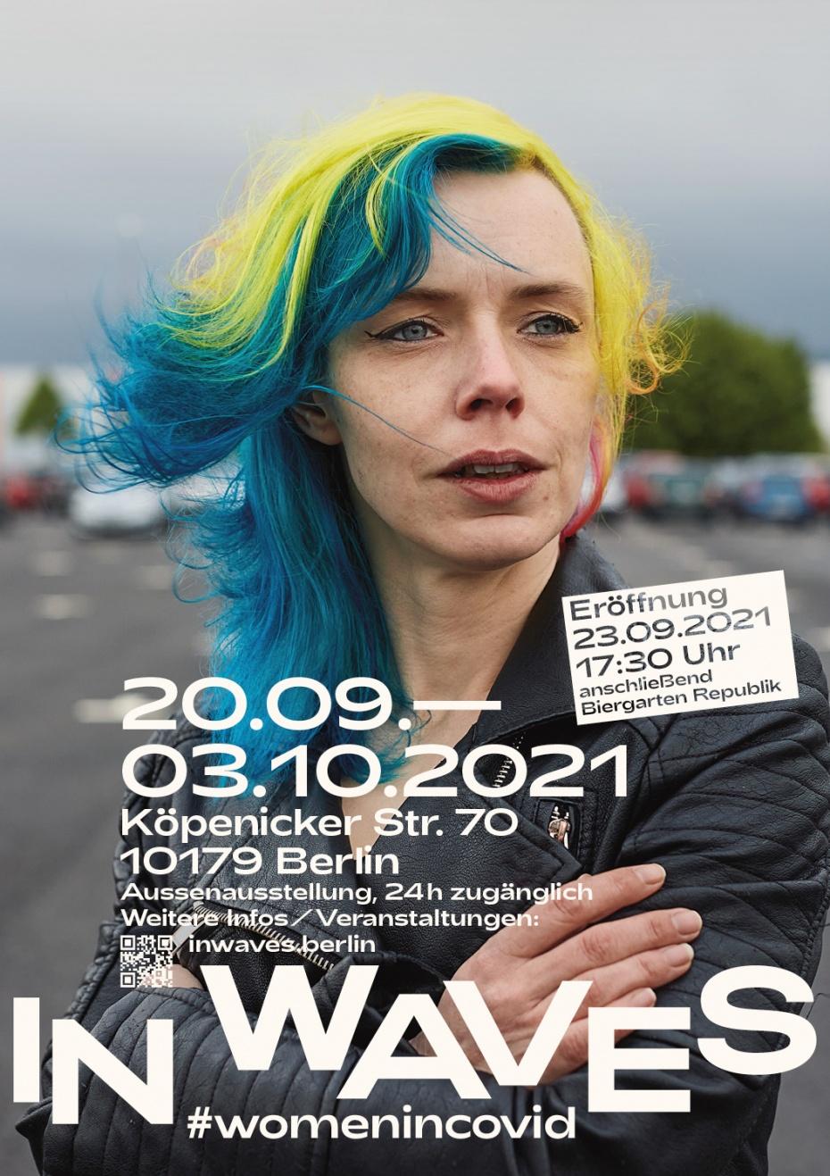 Außenausstellung 24 Fotografinnen vom 20.09.2021 - 03.10.2021 in Berlin