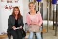 Sängerin, Moderatorin und Schirmherrin Inka Bause mit der Gründerin des Berliner Herz Christiane Edler
