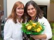 Schauspielerin und Botschafterin Eva Mattes mit der Gründerin des Berliner Herz Christiane Edler