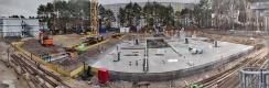 Baustelle im Januar