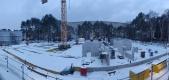 Baustelle im Februar