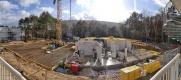 Baustelle Mitte Februar 2021