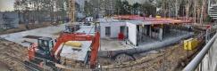Baustelle Ende Februar 2021