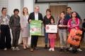 Die Preisträger_innen des Kinder- und Jugendbeteiligungsbüros Marzahn-Hellersdorf | Foto: Lars Hübner