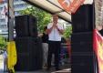 Dr. Bruno Osuch bei der Auftaktkundgebung am Alexanderplatz