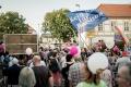 Abschlusskundgebung auf dem Schlossplatz Königs Wusterhausen