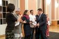 Dr. Dhrama Bhusal, Sabine Sebayang und Nawaz Muhammad vom Interkulturellen Hospizdienst Dong Ban Ja