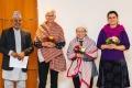 Dr. Dharma Bhusal, Andrea Käthner-Isemeyer, Frau In-Sun Kim, Sabine Sebayang (v.l.n.r.)