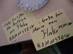 Persönliche Autogrammkarten des Rammstein-Keyboarders Flake
