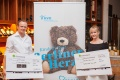 Die Firmen Fahrzeugpflege Szidat und Matthias Müller Firma SHF überreichten dem Berliner Herz ihre Spendenschecks