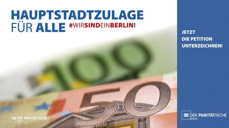 #HauptstadtzulageFürAlle - Damit wir alle gute soziale Arbeit für Berlin leisten können!