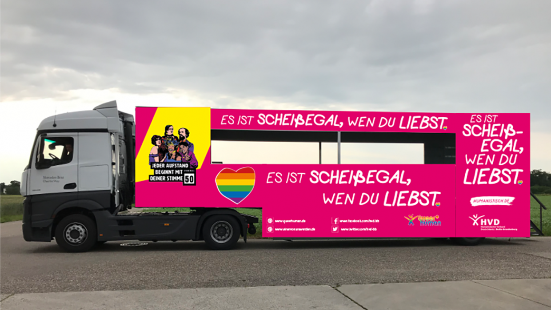 So könnte er aussehen, unser Truck zum CSD 2019