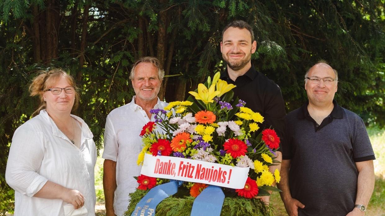 V.l.n.r.: Mirjam Blumenthal, Bruno Osuch, David Driese, Reinhard Wenzel.
