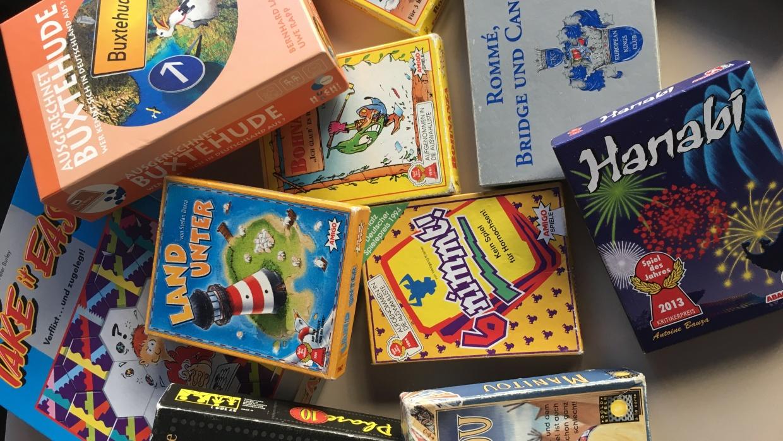 Eine kleine Auswahl an Spielen für unseren Spieleabend