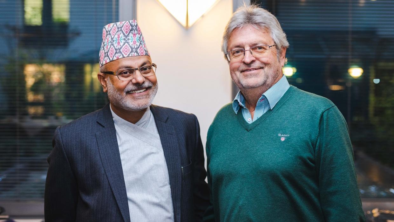 Dr. Dharma Bhusal & Manfred Isemeyer