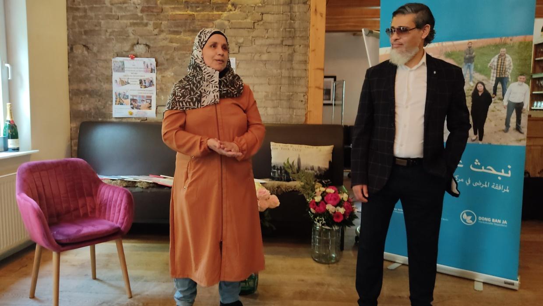Eine Teilnehmerin und Hr. Al-Faitory (Koordinator)