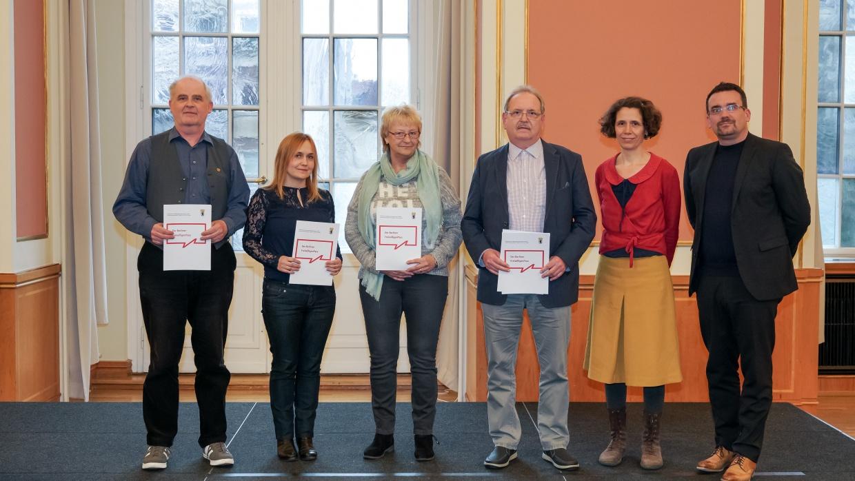 Die Ausgezeichneten der Kontaktstelle PflegeEngagement bei der Verleihung des Berliner Freiwilligenpasses