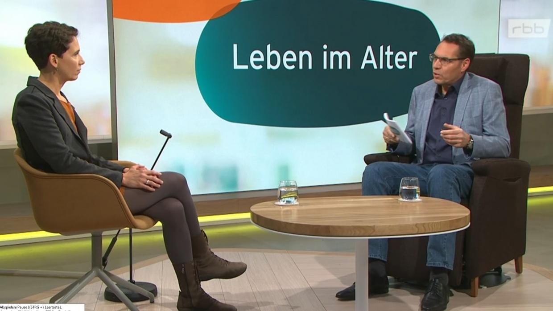 Koordinatorin Julia Giese im Gespräch mit Raiko Tahl