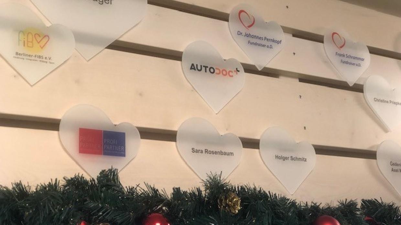 Mit dem Spenderherz im Kinderhospiz bedanken wir uns für die großzügige Unterstützung durch Autodoc