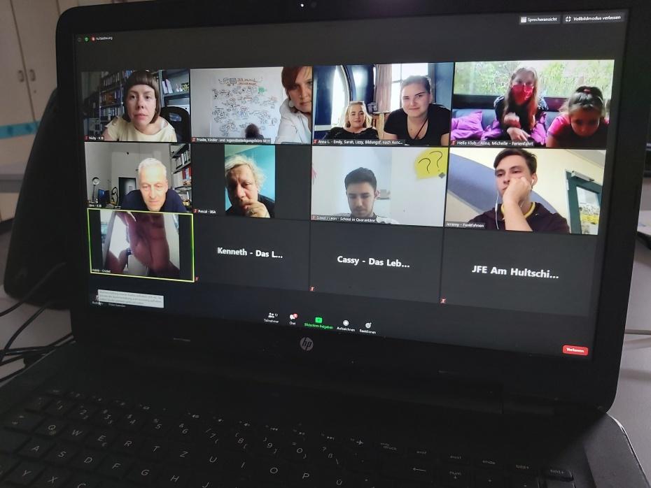 Die Juror_innen der Jugendjury 2020 tauschten sich erstmals digital aus